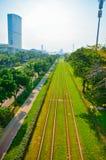 路轨,都市路轨运输 库存照片