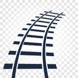 路轨,铁路顶视图,梯子元素导航在方格的梯度背景的例证 向量例证