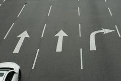 路轮方向标志 免版税库存照片