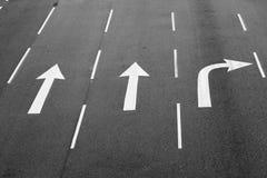 路轮方向标志 免版税库存图片