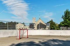 路辗曲棍球溜冰场 免版税库存照片