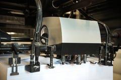 路辗细节在橡皮打印机的 免版税图库摄影