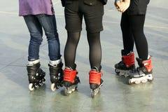 路辗鞋子滑冰 库存照片