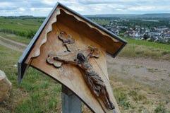 路边十字架 免版税库存图片