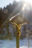 路边寺庙在巴伐利亚,德国 免版税库存图片