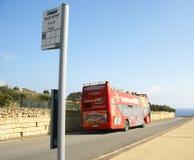 路运输n马耳他海岛  库存照片