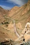 路进入西藏 免版税库存图片
