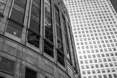 路透社大厦和一个加拿大摩天大楼-伦敦-大英国- 2016年9月19日 库存照片