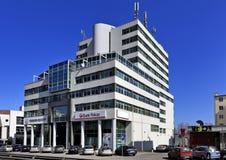 """路透社大厦在格丁尼亚,三城市,波兰†""""2015/04/10 免版税库存照片"""