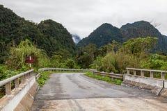 路通过密林, Ke轰隆国家公园,越南 库存图片