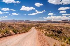 路通过玻利维亚的乡下 免版税库存图片