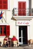 路面咖啡馆,纳沙尔,马耳他 库存照片