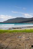 路面棋盘格的塔斯马尼亚岛 库存照片
