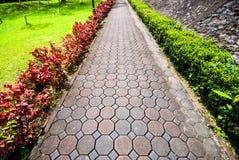 路面由石头制成 免版税库存图片