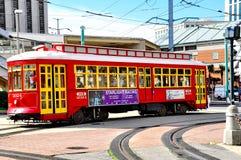 路面电车在新奥尔良, LA 免版税库存图片