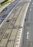 路面电车路轨天线在科隆 库存照片