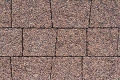 路面纹理铺路石石头块砖小径 免版税库存照片