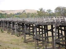 路高架桥的遗骸 库存照片