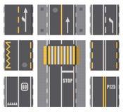 路高速公路顶视图表面的汇集 向量例证