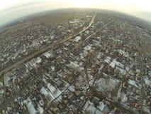 路鸟瞰图在Zhitomir市,乌克兰附近的 免版税库存照片