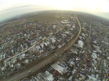 路鸟瞰图在Zhitomir市,乌克兰附近的 免版税图库摄影