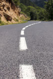 路,中间路线。 免版税库存照片