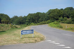 路,博恩霍尔姆,丹麦 库存照片