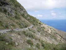 路, Saba 免版税库存照片