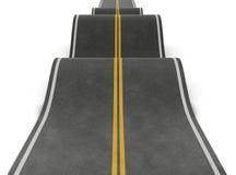 直路以不规则性 有高潮和低谷的坎坷的路 皇族释放例证