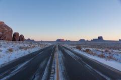 路163在亚利桑那,纪念碑谷 库存照片