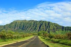路93在西部奥阿胡岛,夏威夷 免版税库存照片
