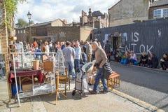 路10月2017年,哥伦比亚,伦敦,著名市场的A视图 免版税图库摄影
