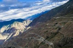 路318西藏,中国 库存图片