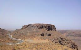 路Canarian山,西班牙 免版税库存照片