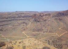 路Canarian山,西班牙 免版税库存图片