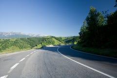 路transfagarasan的罗马尼亚 库存照片