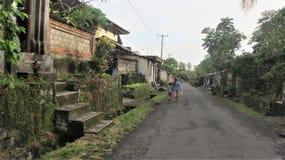 路Ubud,巴厘岛,印度尼西亚 免版税图库摄影