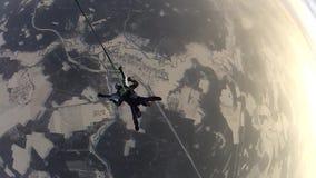 跳伞 自由秋天的跳伞运动员 股票视频