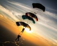 跳伞 免版税图库摄影