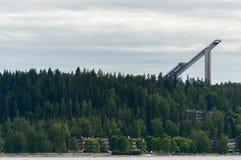 跳台滑雪的塔 免版税库存照片