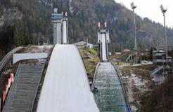 跳台滑雪的体育场 埃丁格竞技场 奥伯斯特多夫,巴伐利亚,德国 库存图片