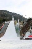 跳台滑雪的体育场 埃丁格竞技场 奥伯斯特多夫,巴伐利亚,德国 库存照片