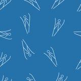 跳台滑雪的无缝的样式背景 免版税图库摄影