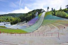 跳台滑雪的舷梯 免版税库存照片
