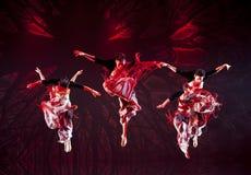 跳国家伊的中国舞蹈演员 库存图片