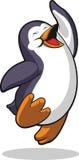 跳在兴奋的企鹅 图库摄影