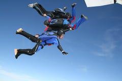跳平面跳伞运动员三 库存图片