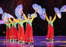 跳开舞蹈---韩国舞蹈 免版税库存图片