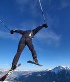 跳滑雪 库存照片