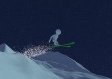 跳滑雪 免版税库存图片